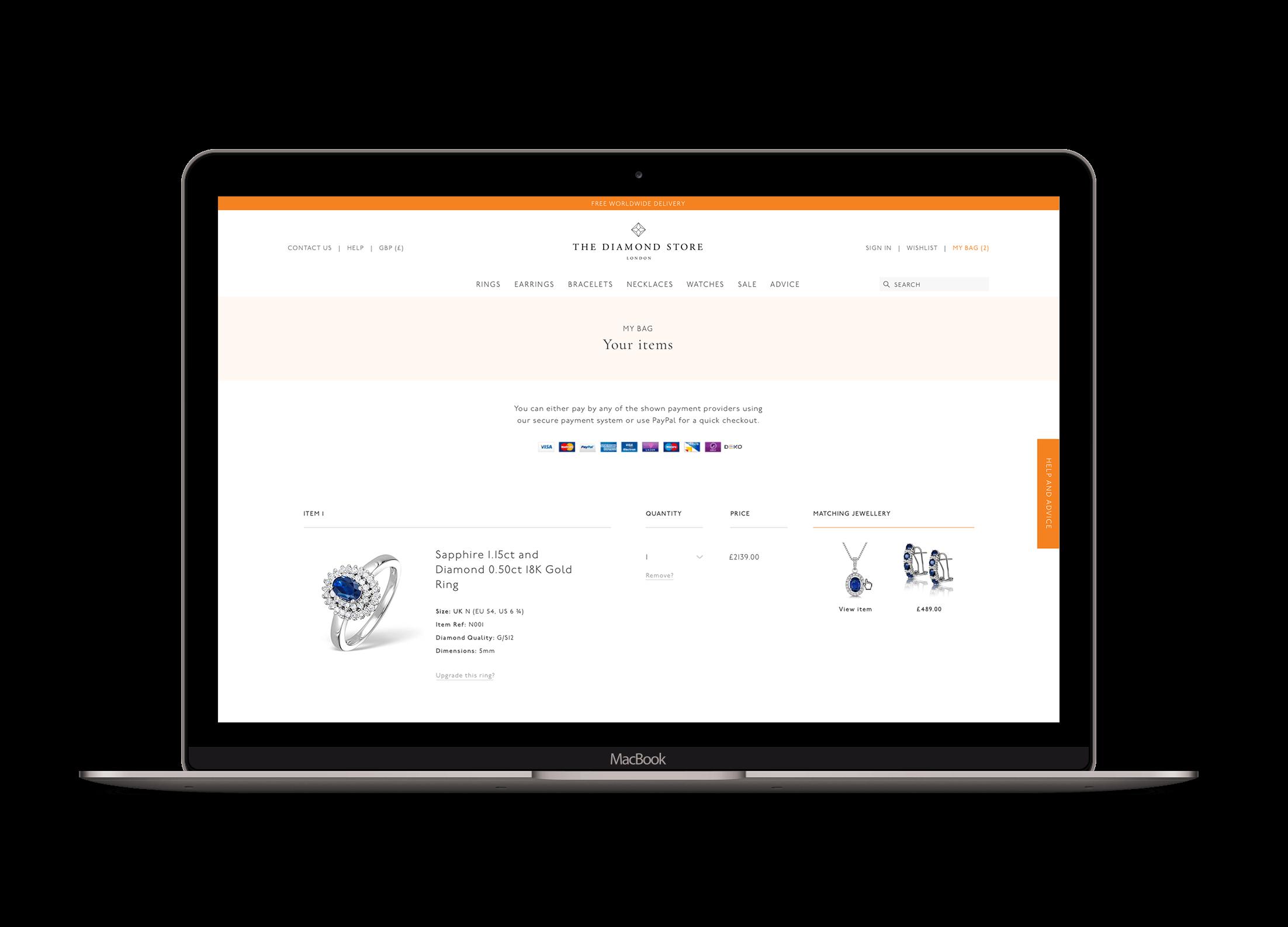 Chânelle-Sharp-Digital-Portfolio-The-Diamond-Store-Macbook-11