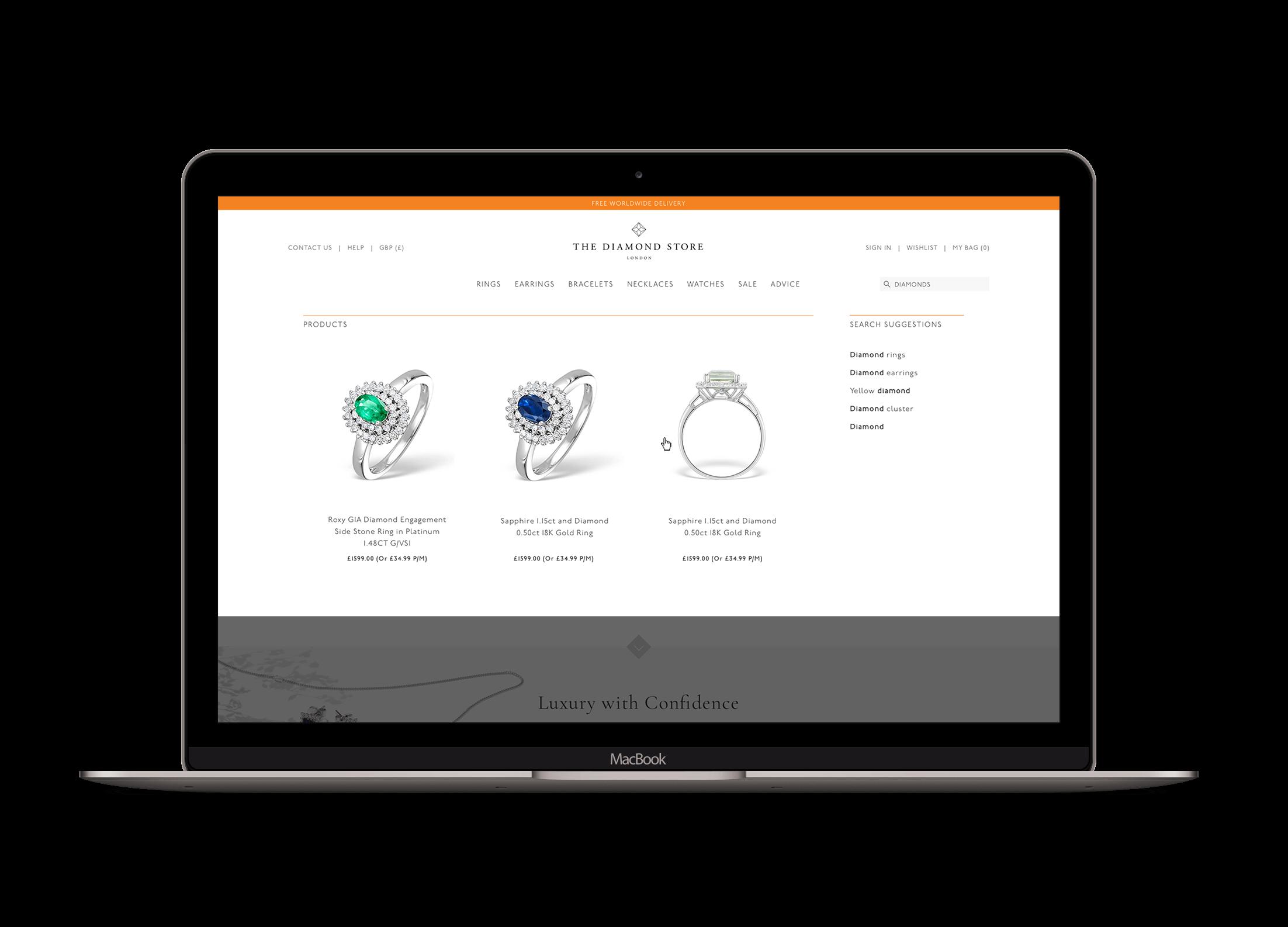 Chânelle-Sharp-Digital-Portfolio-The-Diamond-Store-Macbook-13